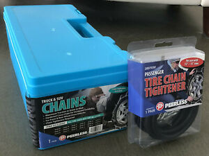 Peerless Truck Tire Snow Chains 0222930 And Tightener 2007030