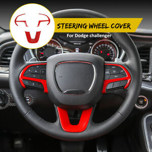 3x Steering Wheel Frame Cover Trim For Dodge Challenger charger 15 Accessories