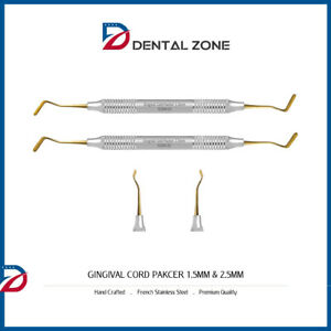 Gingival Cord Packer 1 5mm 2 5mm Dental Tools Instruments Serrated New