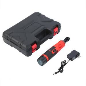Cordless 3 8 Electric 12v Ratchet Wrench Tool Set W Battery Charger Kit