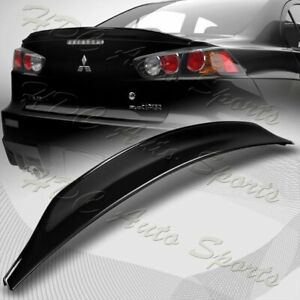For 08 17 Mitsubishi Lancer Evo 10 Painted Black Rear Trunk Duck Lid Spoiler