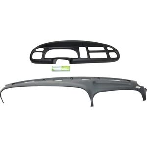Dash Cover Instrument Panel Cover For 98 2002 Dodge Ram 3500 Kit Graphite Gray