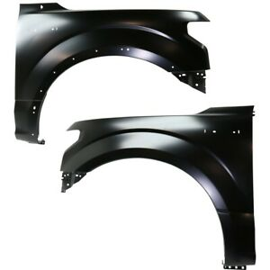 Set Of 2 Fenders Front Left and right For F150 Truck Aluminum Lh
