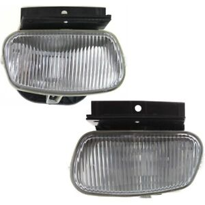 Pair Set Of 2 Fog Lights Lamps Front Left and right For Pickup Lh