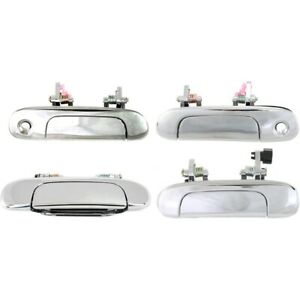Exterior Door Handles Set Of 4 Front Rear Left and right Lh Rh For Protege