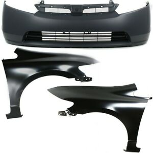 Bumper Cover Fender For 2007 2008 Honda Civic Front Kit