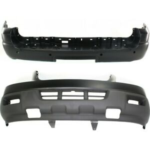Pair Bumper Covers Set Of 2 Front Rear Fo1000559 Fo1100372 For Expedition