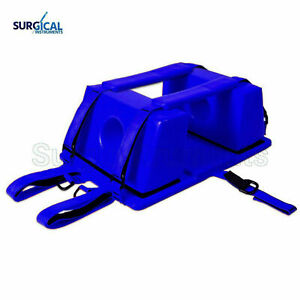 Emergency Spine Board Reusable Head Immobilizer For Ems emt Blue Color