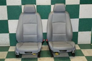 08 10 135i Gray Leather Lh Rh Driver Passenger Front Bucket Power Seats Pair Oem