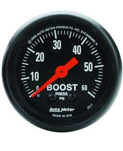 Auto Meter Z Series 0 60 Psi Mechanical Boost Gauge 2 1 16 52mm