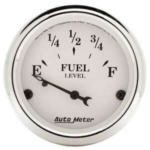 Auto Meter 1604 Old tyme White Air core Fuel Level Gauge 2 1 16 Inch