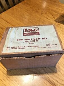 Nos 1955 1956 1957 Fomoco Seat Belt Gray B6a 18620 Ad New In The Box