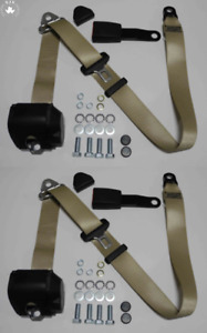 Three Point Automatic Seat Belt Set For Mg Mga Mgb Td And Others Beige