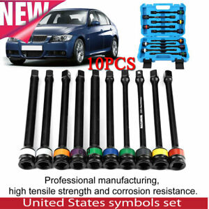 10pcs 1 2 Drive Torque Bar Extension Set Air Impact Limiting Stick Car Tool Set