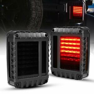 For Jeep Wrangler Tail Lights Smoke Rear Light Lamp Jk Jku 2007 2017 Accessories