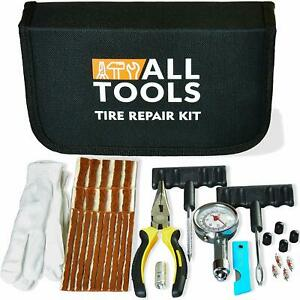 Heavy Duty Tire Repair Kit For Car Bike Motorcycle Trailer Rv Utv Jeep Truck