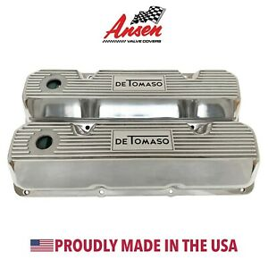 Ford De Tomaso Pantera Valve Covers Polished style 1 351 Cleveland Ansen Usa