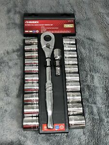 Husky 1 2 In Drive Ratchet And Sae mm Socket Set 22pcs 25285 4