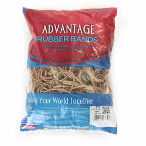 Advantage Rubber Bands Large Size 33 3 1 2 X 1 8 Heavy Duty Made In Usa