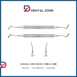 Gingival Cord Packer 1 5mm 2 5mm Dental Tools Instruments non serrated