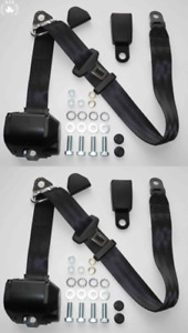 Three Point Automatic Seat Belt Set Mg Mga Mgb Td And Others Black 10cm