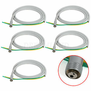 5pcs Silicon Dental 2 Hole Hose Tube Tubing Cable For High Low Handpiece Turbine