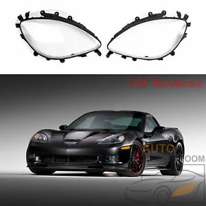 Oe Replacement Dot Pair Headlight Lenses Gaskets Kit For C6 Corvette 2005 13