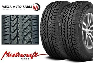 2 Mastercraft Courser Str 255 70r16 Owl M s All Season High Performance Tires