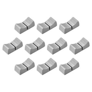 Console Mixer Slider Fader Knobs Replacement For Potentiometer Gray Black 10pcs