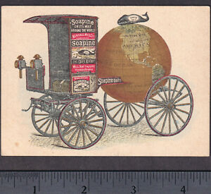Soapine Whale Antique 1800 S Providence Ri Soap Parade Wagon Advertising Card