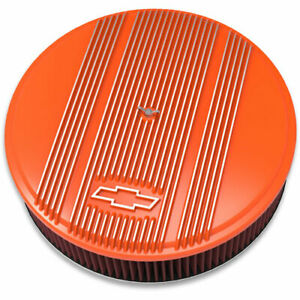 Holley 120 176 Officially Licensed Chevy Bowtie Vintage Finned Air Cleaner Assem