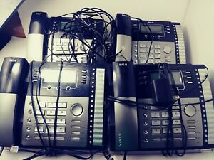 Rca Office Phones 25424re1 Expandable 4 Line Business Caller Id Lot Of 4