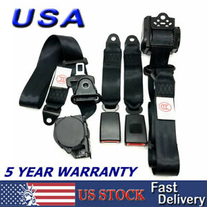 2 Universal 3 Point Retractable Seat Belts For 1982 1995 Jeep Cj Yj Wrangler