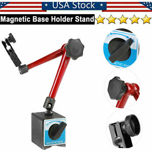 Universal Magnetic Base Stand Holder Adjustable For Dial Test Gauge Indicator Us