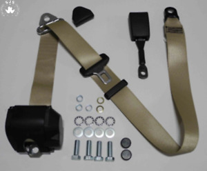 Three Point Automatic Seat Belt Mg Mga Mgb Td And Others Beige 16cm