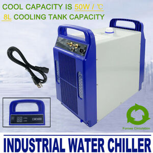 110v Cw 3000 Industrial Water Chiller For 60 80w Co2 Glass Laser Tube Engraver