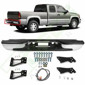 Rear Chrome Bumper For 1999 2005 2006 2007 Chevy Silverado Gmc Sierra 1500