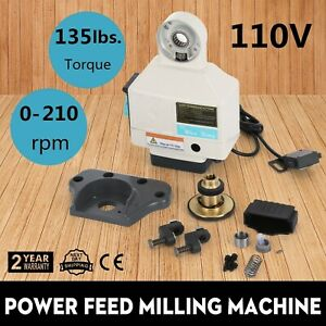 Power Feed X axis 135lbs Torque For Bridgeport Type Milling Machines 0 210rpm