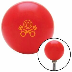 Orange Smiley Pistons Red Shift Knob W M16x1 5 Insert Shifter Auto Manual Brody