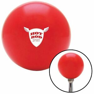 White Hot Rod Spirit Red Shift Knob W M16x1 5 Insert Shifter Auto Manual Brody