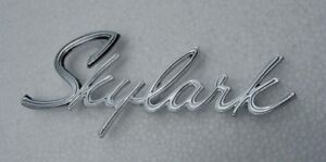 Buick New 1964 And Early 1965 Skylark Trunk Emblem Bua65a