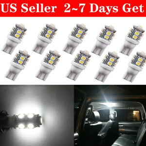 10x Hid White T10 10 smd 168 194 2825 906 Led Bulb Dome Map License Plate Lights