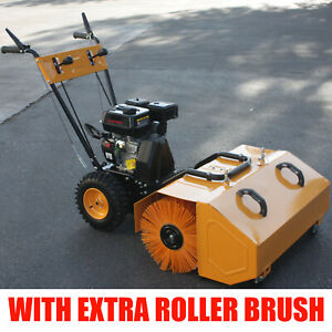 6 5hp Walk Behind Snow Lawn Turf Clean Sweeper W Dust Collector