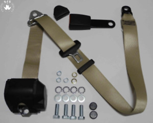 Three Point Automatic Seat Belt Mg Mga Mgb Td And Others Beige 15cm