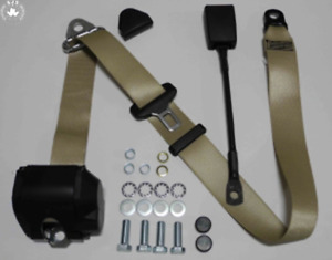 Three Point Automatic Seat Belt Mg Mga Mgb Td And Others Beige 30cm