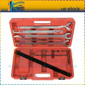 Water Pump Fan Clutch Nuts Holder Wrench Holding Tool Set For Mercedes Benz Bmw