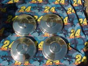 1973 80 Oldsmobile Dog Dish Hubcap Set 10 1 2 Olds 442 Poverty Sleeper Covers