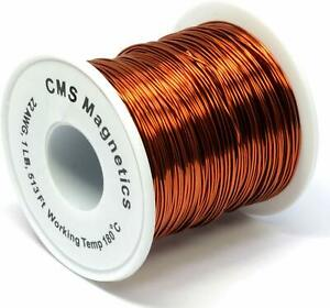 22 Awg Magnet Wire Enameled One Lb Spool W Working Temperature 356 F