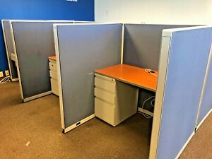 45 X 45 X 52 h Telemarketing Cubicles Stations By Steelcase 9000