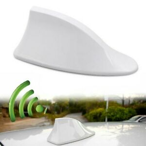 White Universal Car Roof Radio Am Fm Signal Shark Fin Style Aerial Antenna Cover